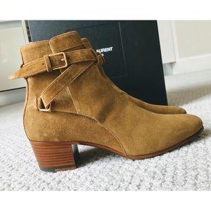 Saint Laurent Shoes - Saint Laurent Blake Cigar Suede Jodhpur Boots